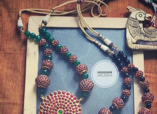 Bold kemp necklace aabharanam