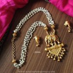 Gold Plated Antique Pearl Necklace Set From Kruthika Jewellery