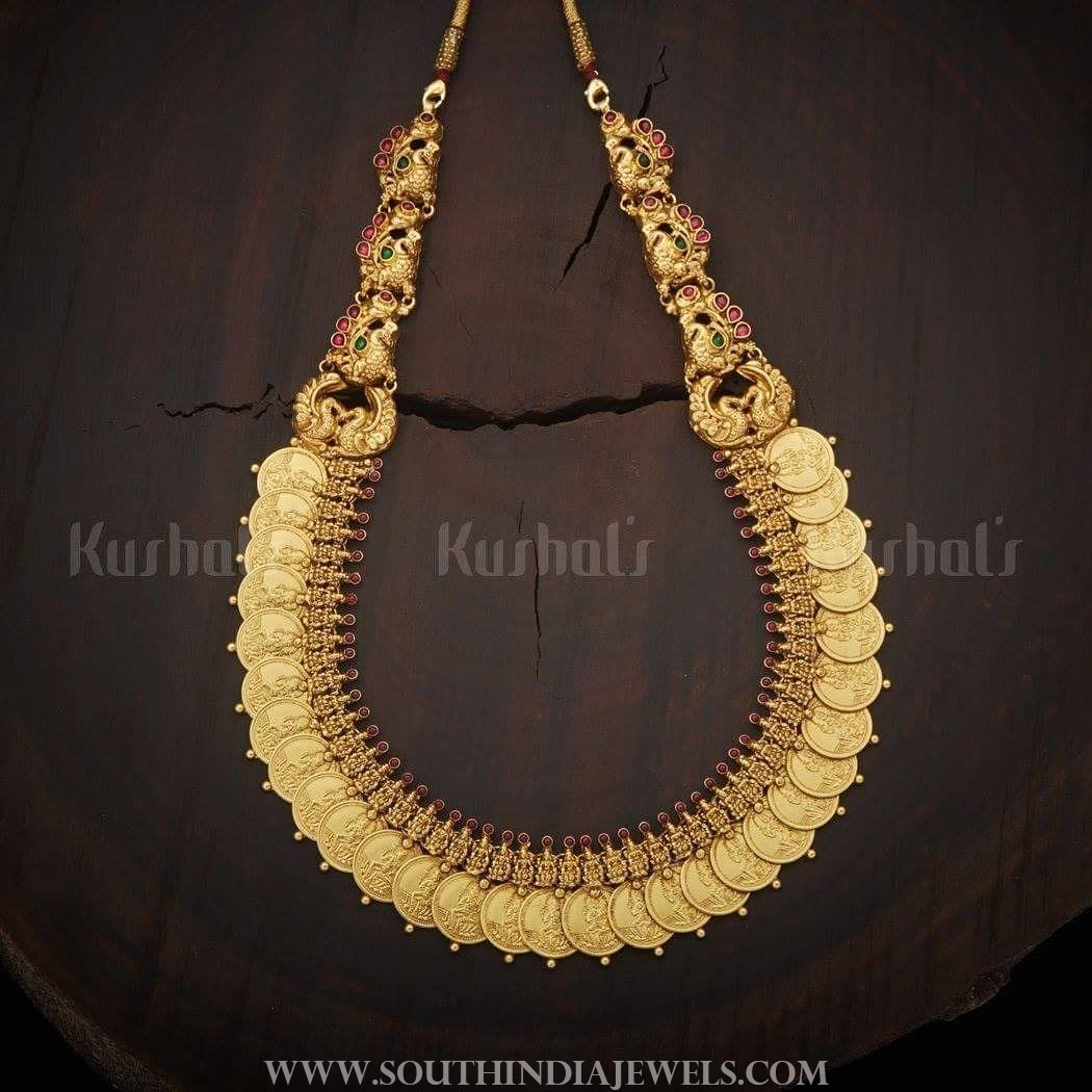 Gold plated coin necklace kushalsfashionjewellery