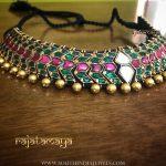 Gold Plated Emeraled Choker From Rajatmaya