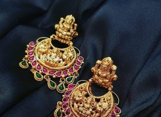 Gold plated silver temple earrings bcos_its_silver