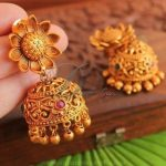 Matt Finish Imitation Floral Jhumka From Dreamjwell