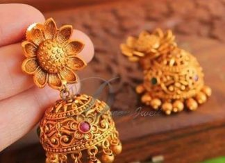 Matt finish imitation floral jhumka dreamjwell