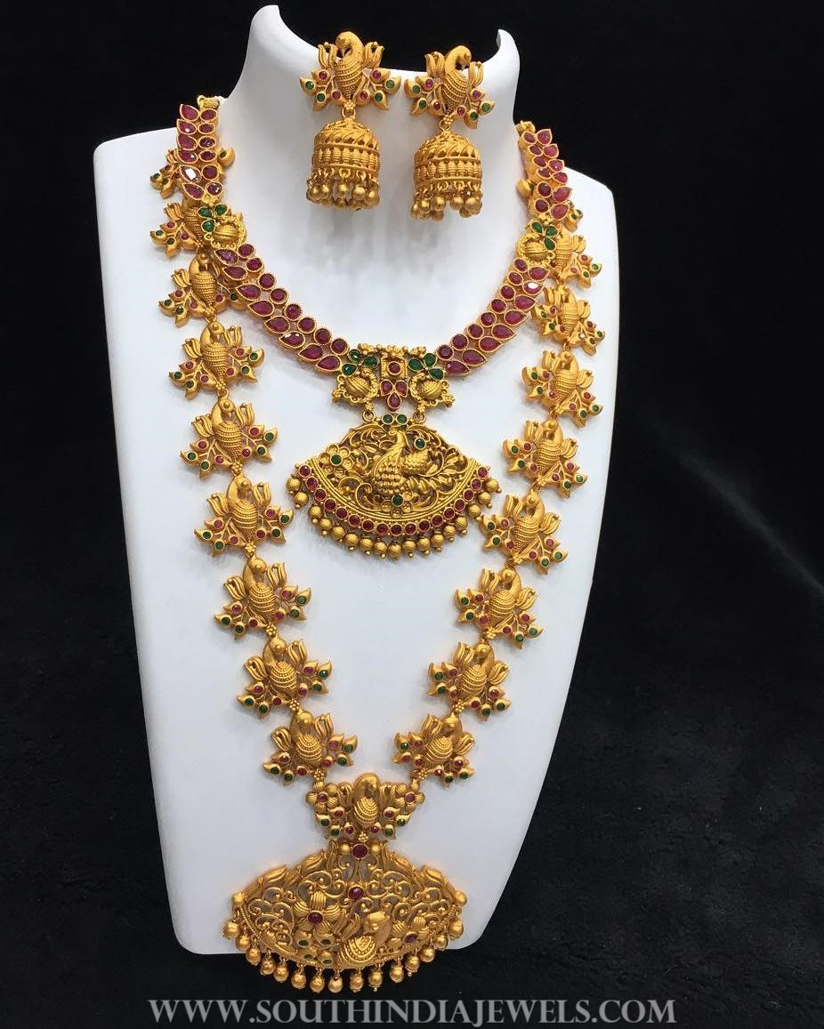 One gram gold bridal set alamakara