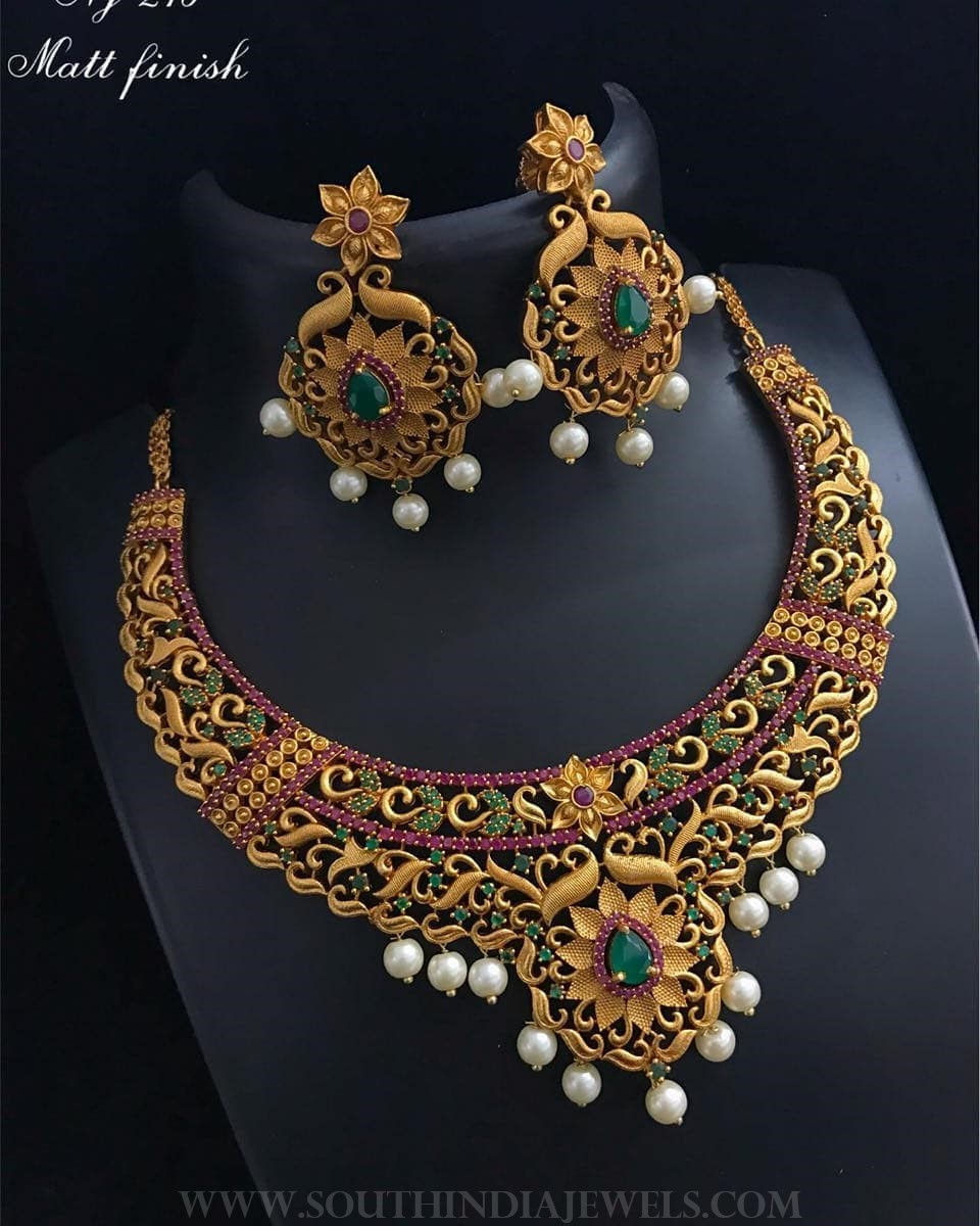 one gram gold necklace set from bead chicz south