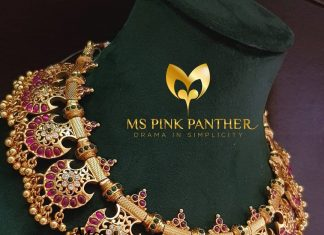 Pretty Gold-plated antique ruby choker mspinkpantherjewel