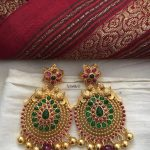 Royal Gold Plated Stone Earrings From Tvameva