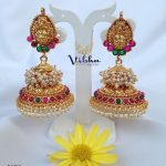 Classic One Gram Gold Temple Jhumka From Vibha