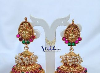c997110431150 One Gram Gold Jhumka Designs ~ South India Jewels