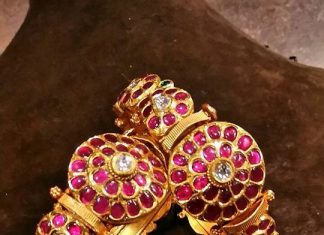gold antique ruby bangle set jewels india antique shopee