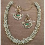 Gold Plated Pearl Necklace Set From Bcos Its Silver