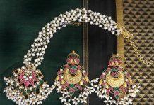 gold plated pearl short necklace set rajatamaya