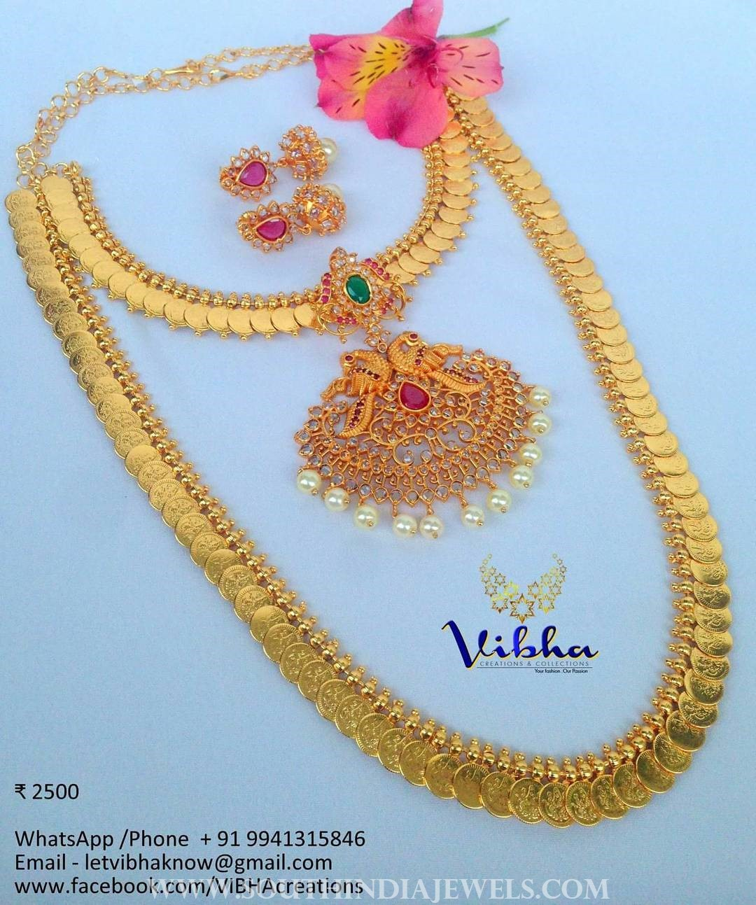 823b582c69 One Gram Gold Coin Jewellery From Vibha Creations ~ South India Jewels