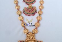 one gram gold temple haram vibha creations