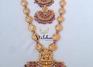 one gram gold temple haram vibha creations