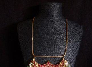 pure silver kundan pendant parampariya