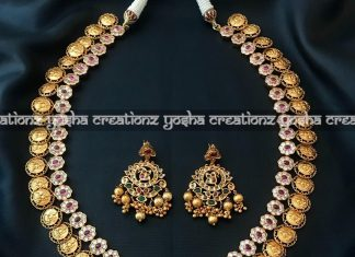 Antique- matte finish long lakshmi harm Yosha creations
