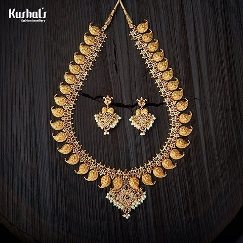 Antique necklace set kushal's fashion jewellery