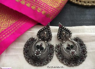 Beautiful cutwork chandbalis Tvameva