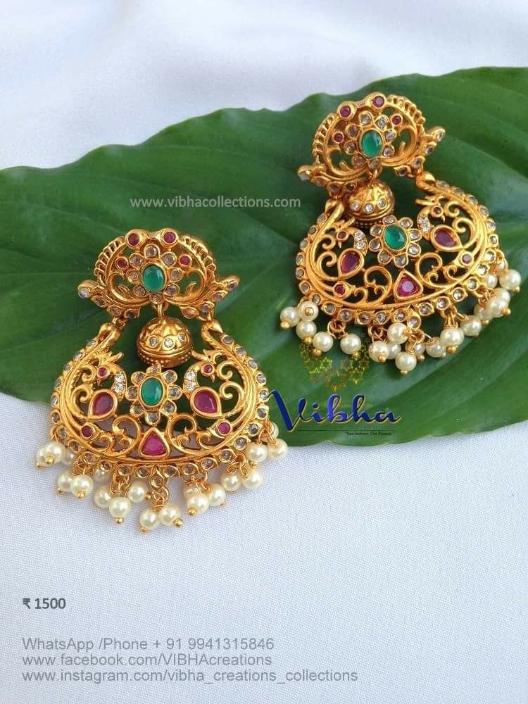 Bold antique earrings vibha creations