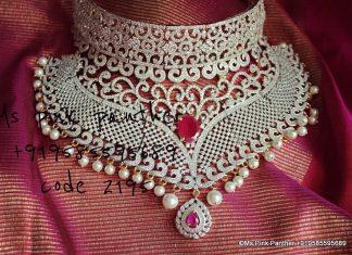 Classy Bridal choker Ms Pink Panthers