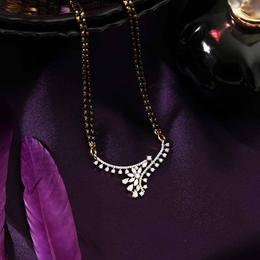 Diamond mangalsutra Manubhai Jewellers