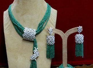 Fashionable necklace set manjula jewellery