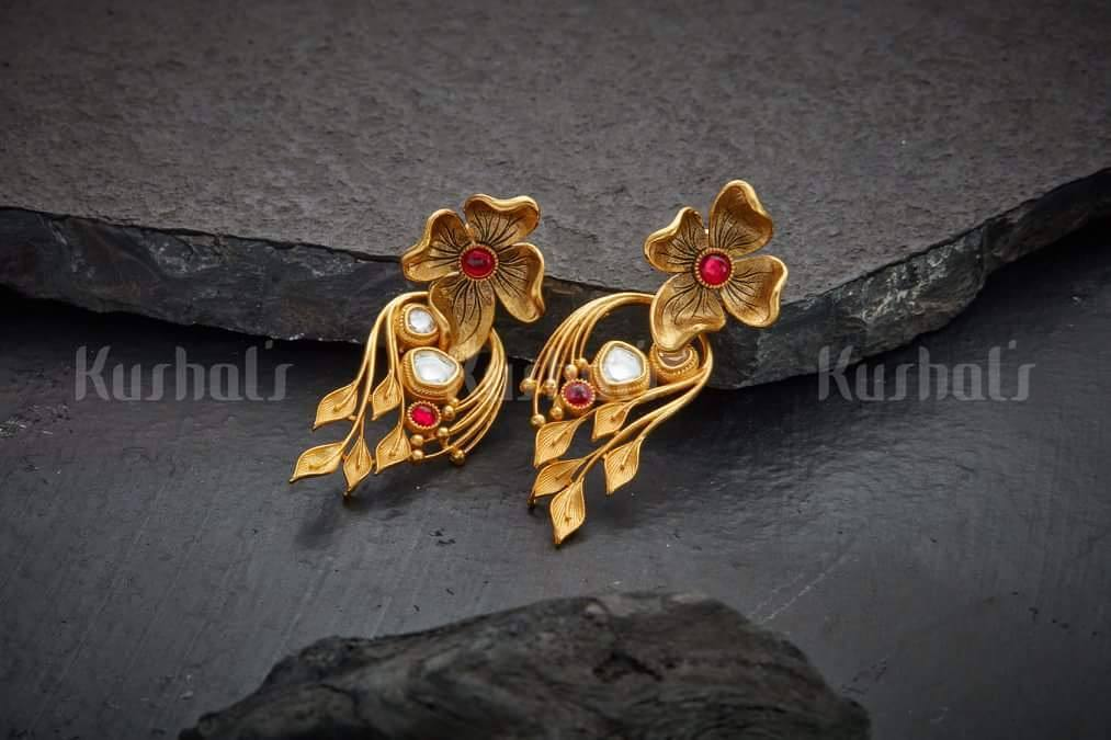 Floral earring kushal fashion jewellery