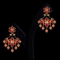 Gold danggler earring Vummidi Bangaru Jewellers