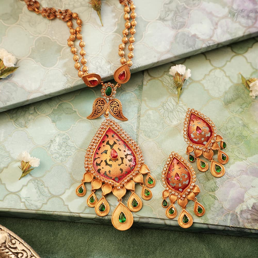 Gold necklace Manubhai Jewellers