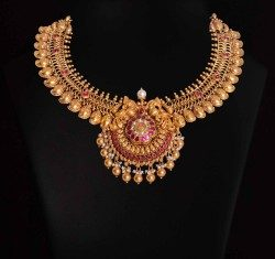 Gold necklace vummidi bangaru jewellers
