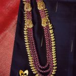 Gold Plated Multilayer Ruby Haram From Ms Pink Panthers