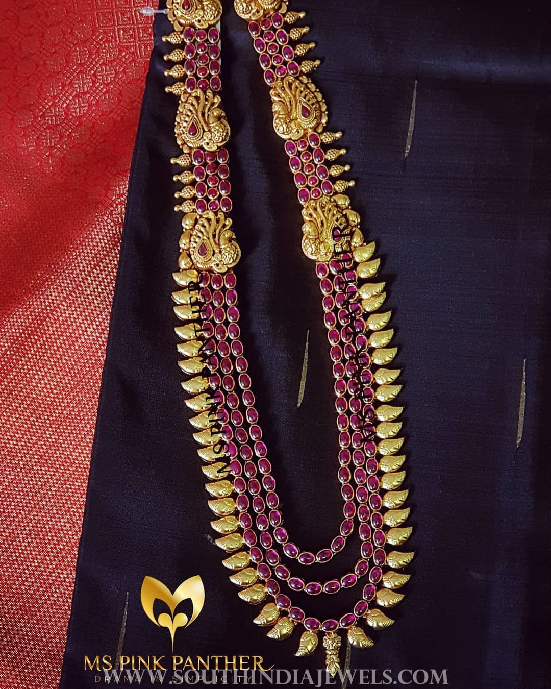 Gold plated multilayer ruby haram mspinkpantherjewel