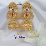 Gorgeous Peacock Jumkha From Vibha Creations