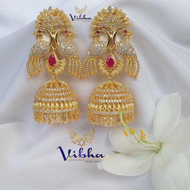 Gorgeous peacock jumkha Vibha Creations