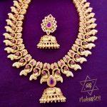 Half Jhumka Matte Ruby Set From Nakshatra By Sha