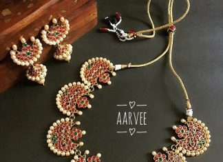Imitation Kemp pearl necklace aarvee chennai