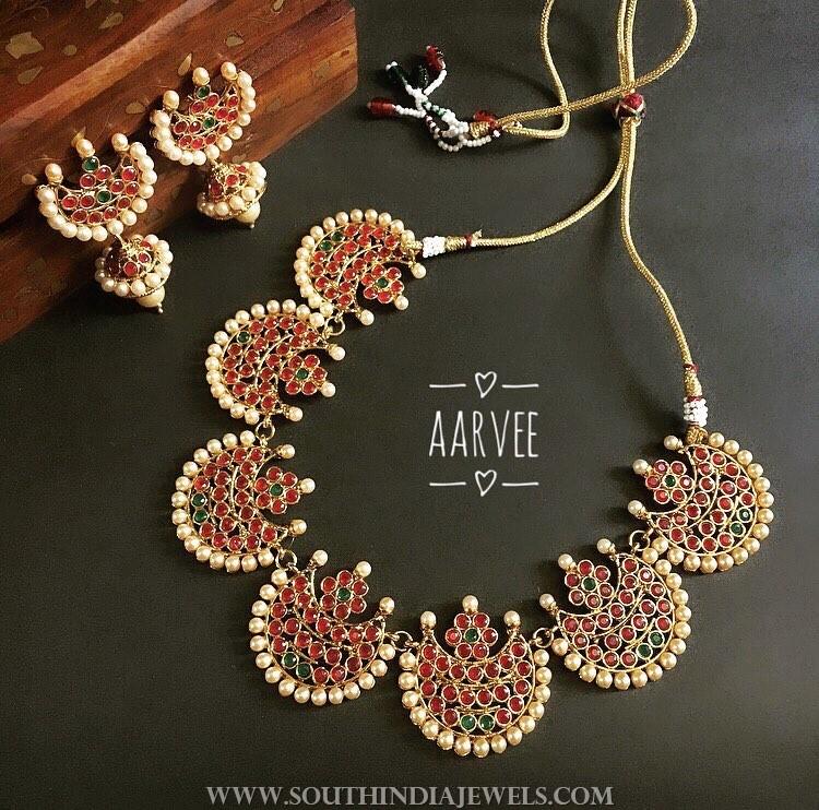 Imitation Kemp pearl necklace aarvee chennai