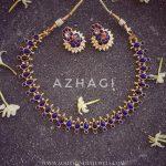 Imitation Blue Kemp Set From Azhagi Beads