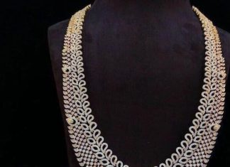 Imitation bridal stone haram set Dhruvam