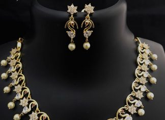 Imitation necklace set Kovai collections