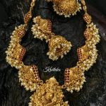 Matt Finish Ganesh Necklace Set From Kruthika Jewellery