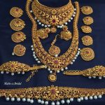 Matt Finish Imitation Bridal Set From Dhruvam