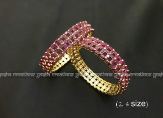 Ruby cut-work bangles Yosha creaations