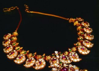 Short mango necklace set manjula jewellery