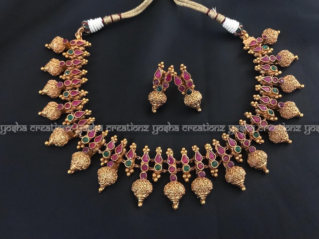 Traditional imitation necklace yosha creations