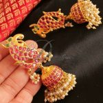 Uncut Polki Ruby Jhumka From Dreamjwell