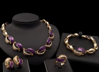 pakistani gold bracelet necklace and earring set P.Satyanarayan & Sons Jewellers