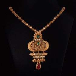 simple Gold necklace vummidi bangaru jewellers