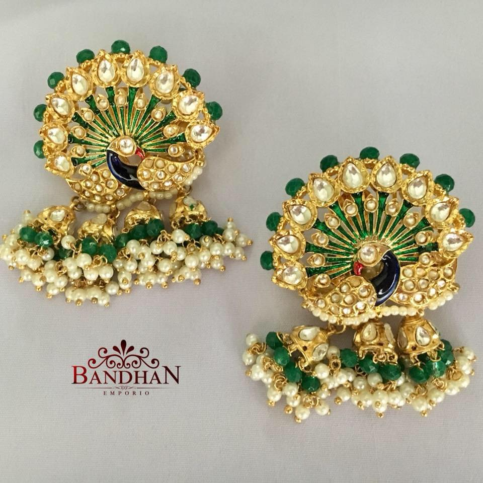 Amazing Peacock Earring From Bandhan